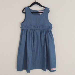 Ruffle Girl 10 Dress Chambray Denim Sleeveless